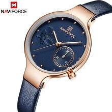 262b81066ba Mulheres Relógios NAVIFORCE Marca de Luxo Da Moda de Quartzo Das Senhoras  do Relógio de Strass Vestido Relógio de Pulso Azul Sim.
