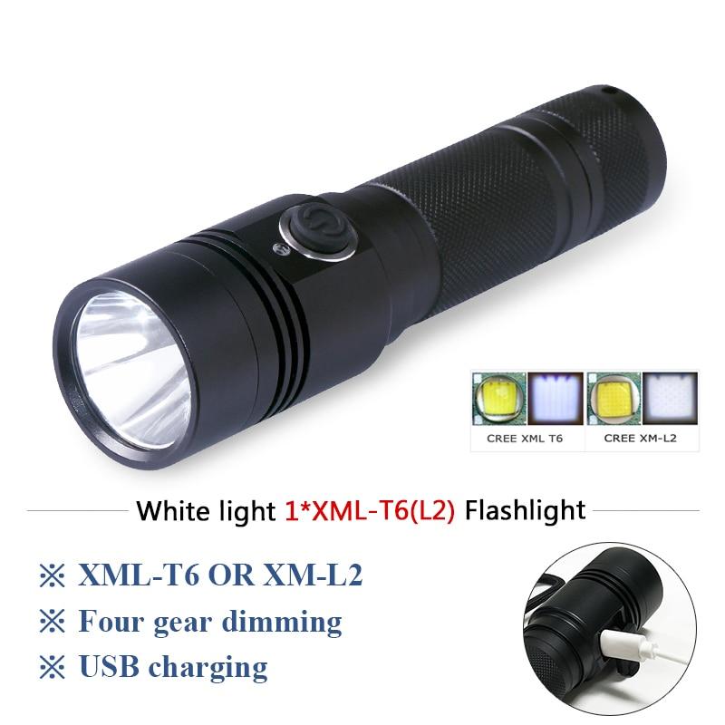 Military Flashlight Tactical Spotlight Hunting Torch Flashlight 18650 Charge Waterproof Self Defense Flash Light Lampe Torche Led Flashlights