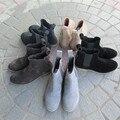 2016 Tobillo Ocasional Botas de Ante de Los Hombres Zapatos de los Planos de Deslizamiento En Primavera Homme Chaussure Sapato masculino Zapatos Hombre Botas de Punta Redonda hombres