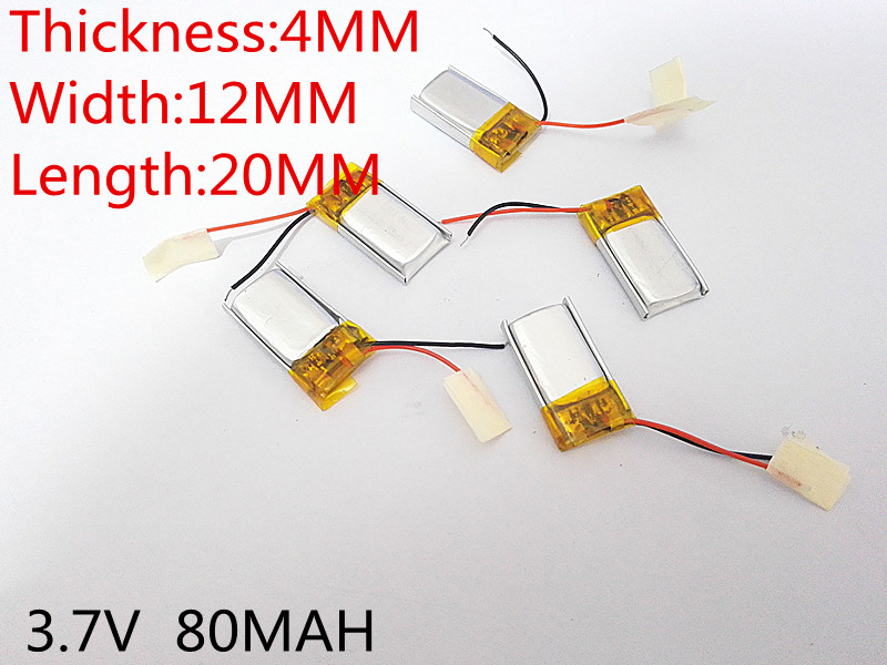 3.7V lithium polymer battery 041220 401220 80mah MP3 MP4 MP5 Bluetooth headset 3 7v lithium polymer battery 042035 402035 300mah mp3 mp4 mp5 battery bluetooth headset battery