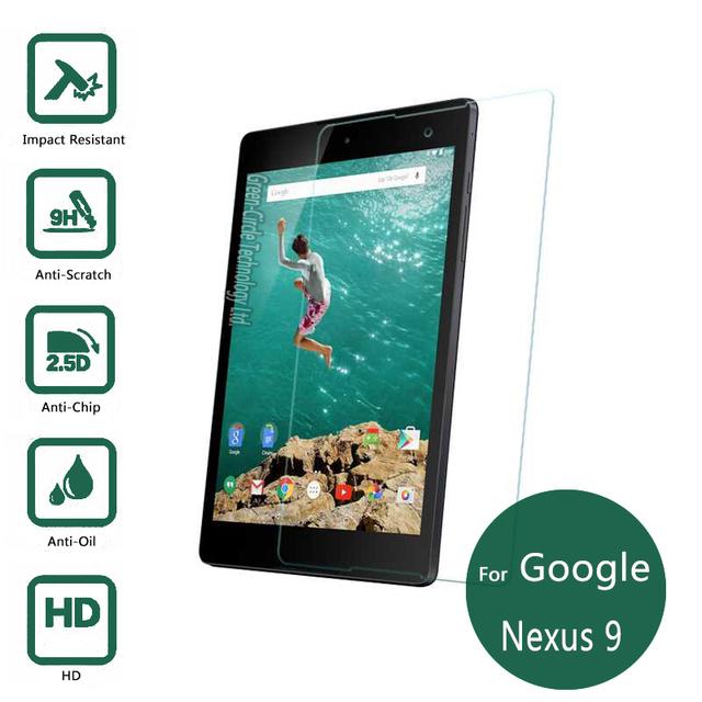 Para google nexus 9 vidrio templado 9 h protector de pantalla película protectora para htc platija nexus9 seguridad wifi lte