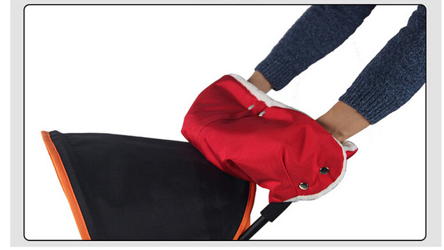 Cochecito de bebé accesorios de invierno a prueba de agua anti freeze cochecito mano muff bebé guantes, carritos de bebé embrague cesta muff guante