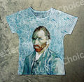 Track Ship+Vintage Retro Good Feeling T-shirt Top Tee Self Portrait Blue Abstract Cloud Vincent van Gogh 0850