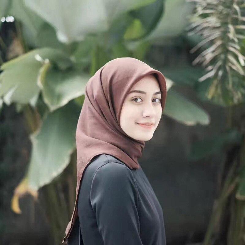 Women Plain Bubble Chiffon Scarf Hijab Wrap Printe Solid Color Shawls Headband Popular Hijab Muslim Scarves/scarf 78 Color