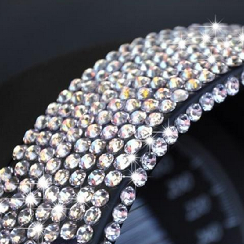 800pc Set Crystal Diamond Rhinestone Car Mobile Pc Decor Decal Styling Accessories Art Self