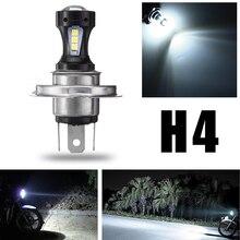 H4 H7 H10 6000K 12V 18SMD 3030 LED Headlight Led Bulb Hi-Lo Beam Headlight Lamp Bulb for Most Car Led Lamp Motorcycle Headlamp creadvent led motorcycle headlight h4 hi low bulb all in one lamp 12v led hs1 p43t motor headlamp 8w 12v cob white