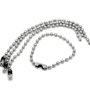 2500Pcs Silver Tone Alloy Ball Chains Keychains Tag Clasp Connector Jewelry Findings Charms 10cm