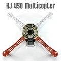 F02192 HJ 450 Multicopter 450F нейлонового Волокна Рамка Планера комплект Сильный Гладкий RC К. К. МК MWC 4-осный DIY Quadcopter самолета