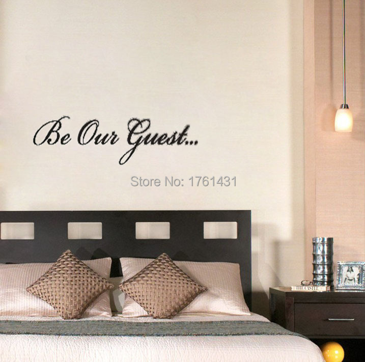 Be Our Guest wall decals vinyl stickers home decor living room decoration bedroom wallpaper quote murals-in Wall Stickers from Home u0026 Garden on ... & Be Our Guest wall decals vinyl stickers home decor living room ...