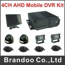 4CH Vehicle 1080N Car DVR 1080P Mobile DVR Kit Support Dual SD Card