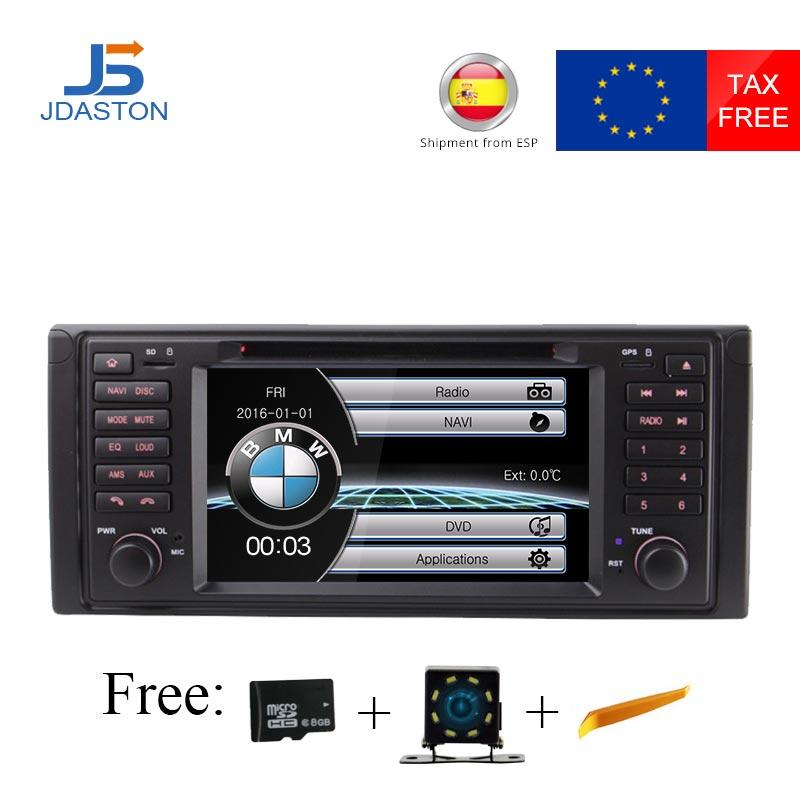 JDASTON HD écran Tactile 7 pouce voiture dvd radio lecteur multimédia Pour BMW X5 M5 E39 E53 stéréo vidéo peut bus commande au volant
