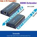 Только 1 ШТ. Передатчик HDMI Удлинитель По ЛОКАЛЬНОЙ СЕТИ Ethernet RJ45 CAT5E CAT6 Для HD 1080 P DVD PS3 до 120 М Бесплатно доставка
