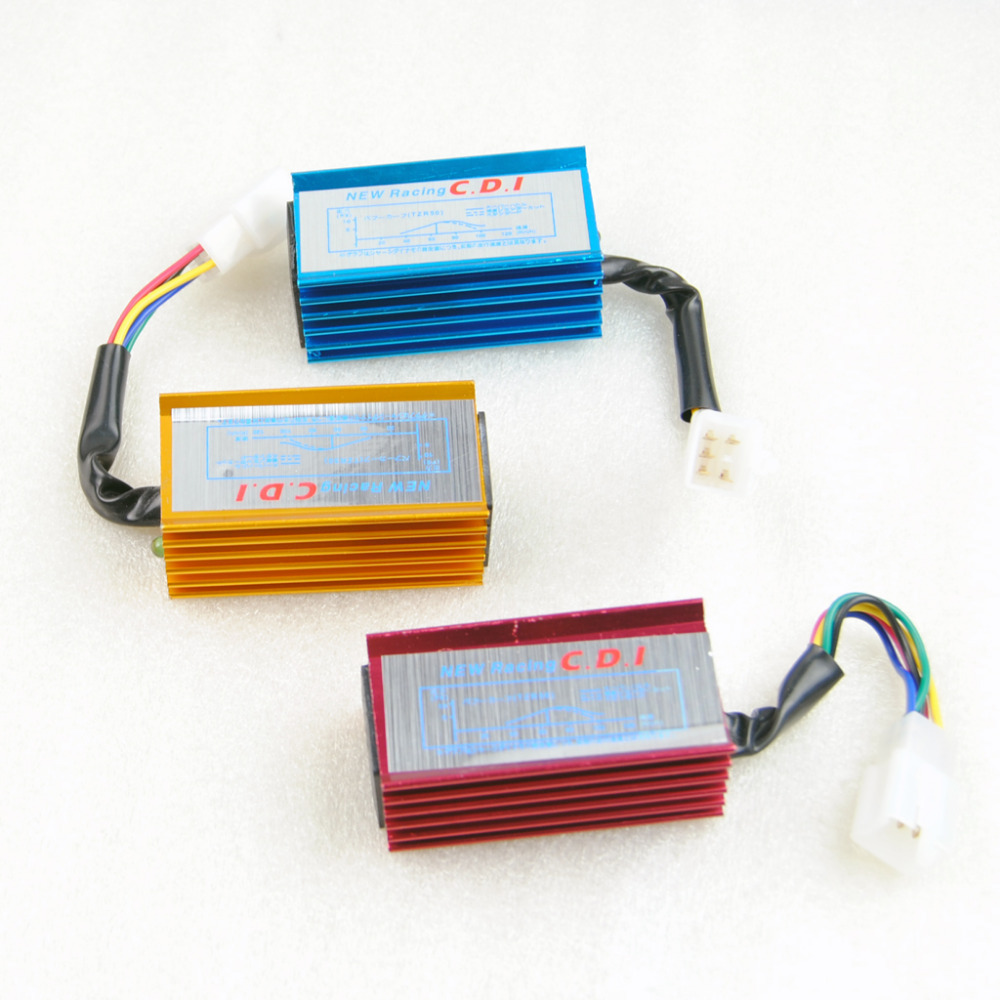 HIGH PERFORMANCE RACING CDI BOX 5 WIRES COLORFUL FOR 50cc 160cc ATV DIRT  PIT BIKE SCOOTER GOKART 3 COLOR FOR U RED BLUE YELLOW-in Motorbike Ingition  from ...