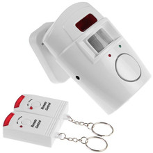 Wireless Home Security Alarm System Remote Control Anti-theft IR Infrared Motion Sensor Alarm Detector + 2 Remote Controllers