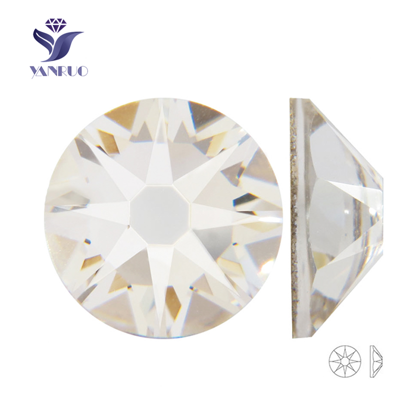 YANRUO 2088HF New 16 Cut Face Strass hot-fix rhinestone applique - Kunsten, ambachten en naaien