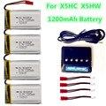 3.7 В 1200 МАЧ 5in1 Липо Батареи баланс Зарядное Устройство для Syma X5HC X5HW bateria липо батареи Rc Drone Мультикоптер Запасных части