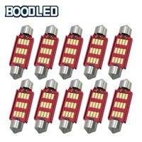 10x 41mm LED Bulb C5W C10W 4014 SMD CANBUS NO ERROR Auto Festoon Lamp Interior Dome