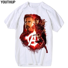 YOUTHUP 2018 3D T-Shirts Men Character Funny Tees Shirt Iron Man Print Robert Downey Jr. T-Shirt Summer Tees Casaul Streetwear