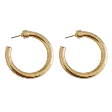 Fashion retro geometric metal earrings smooth earrings Circular street snap women earrings wholesale недорого