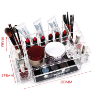 Transparent Acrylic Makeup Brush Bucket Multi Grid Storage Box Dresser Eyebrow Pencil Mascara Lipstick 28 3cm