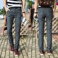 Los nuevos Hombres Slim Fit Casual Pantalones de Lino de Algodón Traje de Pantalones Para Hombre de Negocios Vestido Formal pantalones Rectos Pantalones de Los Hombres de Alta Calidad corredores