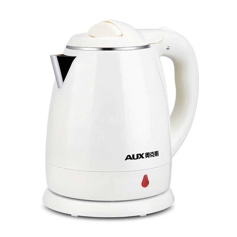 220V AUX 1.2L Electric Kettle 304 Stainless Steel Inner Anti-scald Material For Office Home Fast Boiling