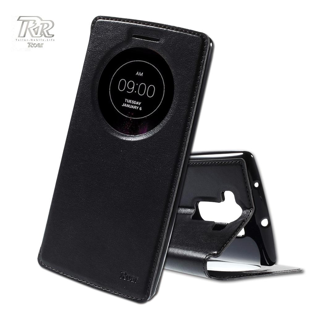 ROAR funda for LG G Flex 2 Original Case Noble View Window PU Leather Cover Case