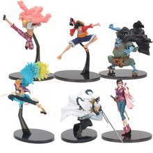 16-20cm Japanese Anime Figure One piece Luffy Donquixote Doflamingo Jinbe Marco Smoker PVC Action Figure Toy