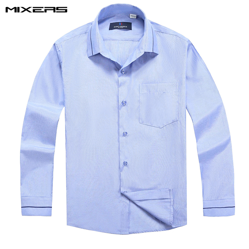 2018 Fashion Blue Striped Casual Shirts childs Classic Formal Shirt Boys Long Sleeve High Quality Student School Shirt Clothes