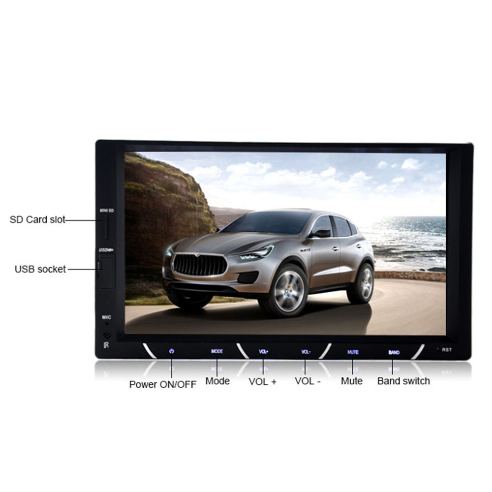 7in TFT2 Din Car DVD Player Touch Display Universal built-in Bluetooth FM TransmitterMP3/4/5 Bluetooth 800*480 Reverse блокада 2 dvd