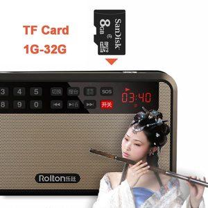 Image 4 - RoltonT60 MP3 Lettore Mini Portatile Audio Altoparlanti 2.1 Radio FM Con Schermo A LED di Sostegno carta di tf di Gioco di Musica di Alta LED torcia elettrica