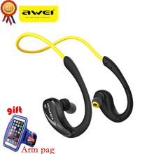 Awei A880BL Sweatproof Wireless Bluetooth Headphone Earphones AptX Sports Earhook Fone Headset for Running Cycling Gym with NFC