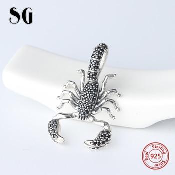 SG fashion christmas Scorpion beads charms pandora silver 925 original women accessories for bracelets wholesale jewelry making 1
