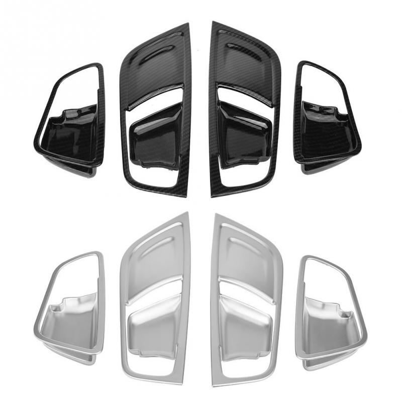 4Pcs Interior Inner Door Handle Trim Cover Frame For