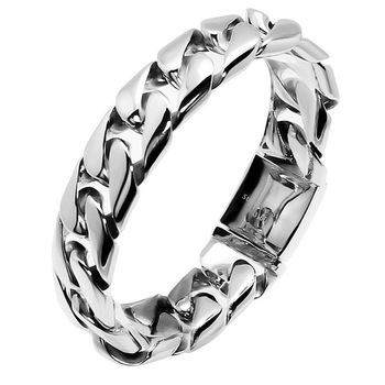 European and American Hot Selling Men's Titanium Steel Bracelet 316L Stainless Steel Rough Ore Bully Jewelry