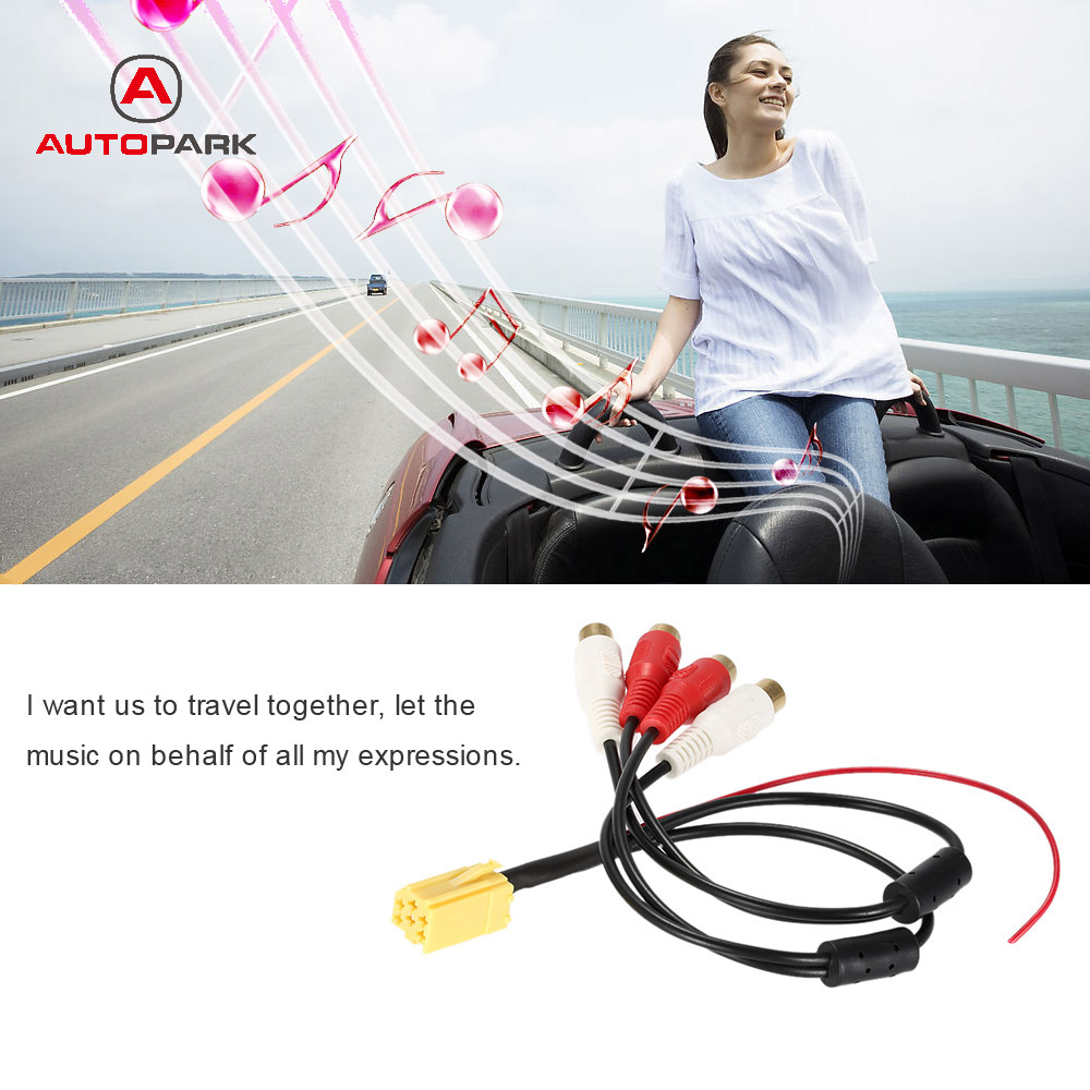 mini audio cable adapter audio converter 6 pin iso aux. Black Bedroom Furniture Sets. Home Design Ideas