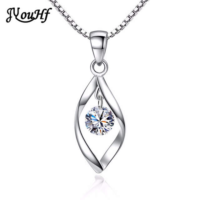 Jyouhf 2018 new fashion simple silver plated pendant necklaces women jyouhf 2018 new fashion simple silver plated pendant necklaces women ladies twist crystal cz stone necklaces aloadofball Choice Image