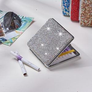 Image 2 - Car Storage Bag Shiny Portable Organizer Auto Storage Box Exquisite Case Holder For Cards Cigarette