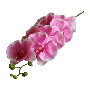 Image 5 - 7 Heads Phalaenopsis Orchid Flower Artificial Flower Wedding Decoration Floral Christmas Party Home Decor
