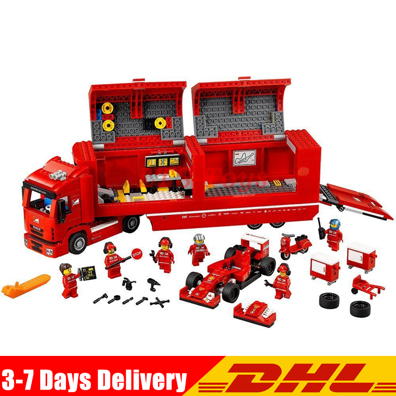 LEPIN 21010 914pcs Technic Super Racing Car Series The Red Truck Set Building Blocks Bricks Toy Model Legoings 75913 in stock dhl lepin set 21010 914pcs technic figures speed champions f14 model building kits blocks bricks educational toys 75913