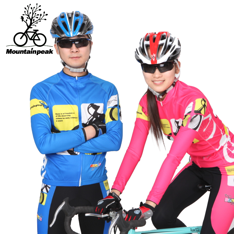 2017 New Spring Autumn Leisurely Man&Woman Riding Trousers Long Sleeve Couple Bike Riding Clothing Suit CyclingJersey Sets 2017 spring long sleeve man