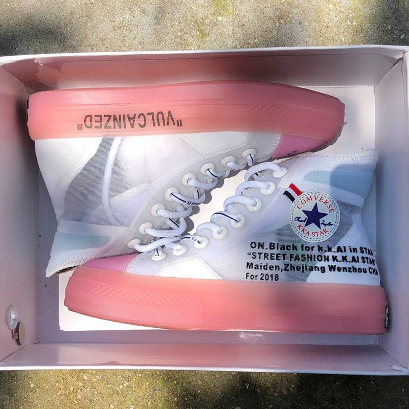 Hot Sale Clear High Top Sneaker Women Street Fashion Lace Up Pink Blue Sole White Leather Casual Woman Shoes Punk Zapatos Mujer hot sale genuine leather shoes women soft comfortable lace up zapatos mujer high quality fashion oxfords pigskin women s shoes