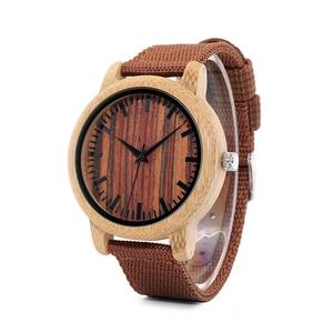 Image 3 - בובו ציפור WD10 Mens יוקרה למעלה מותג עיצוב שעון גברים עץ שעוני יד מעצב שעונים יוקרה במבוק שעון אריזת מתנה מקבלים Oem