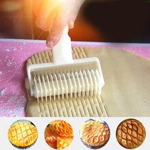 Решетчатый роликовый резак инструмент для выпечки тортов форма для выпечки, пиццы, пирога, печенья(кремово-белый