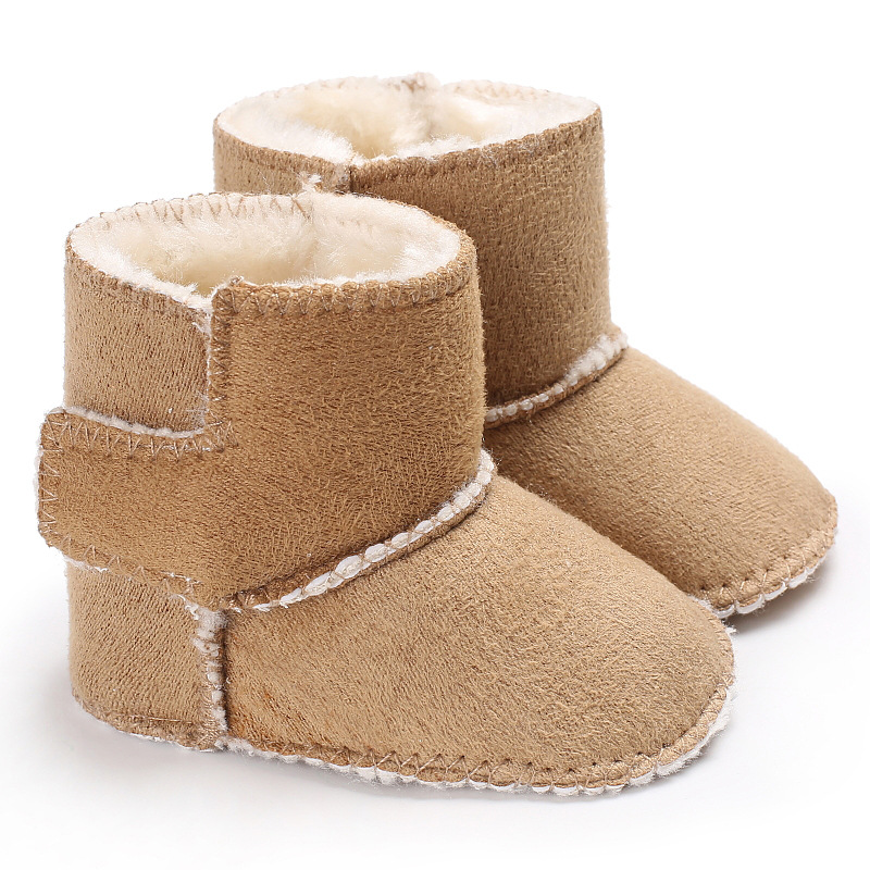 Mother Kids Baby Shoes First walker Unisex Winter Booties Hand made Anti silp Prewalker Bowknot Fleece Snow Boots For Baby in First Walkers from Mother Kids