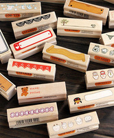 Wooden Rubber Stamp Craft Scrapbooking Handmade Tags Gifts