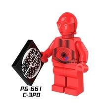 Única Venda de super-heróis de star wars Droid R-3PO C3PO Vermelho modelo de blocos de construção tijolos brinquedos para as crianças brinquedos menino