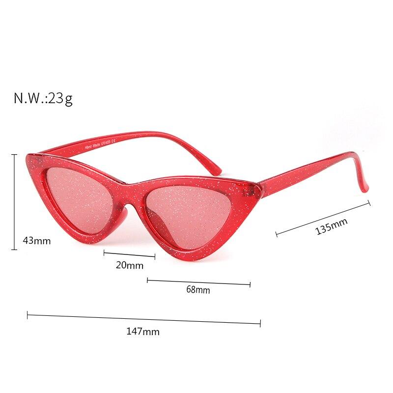 ee1298d8110e SORVINO Glitter Cat Eye Sunglasses Women Brand Designer 2018 Vintage ...