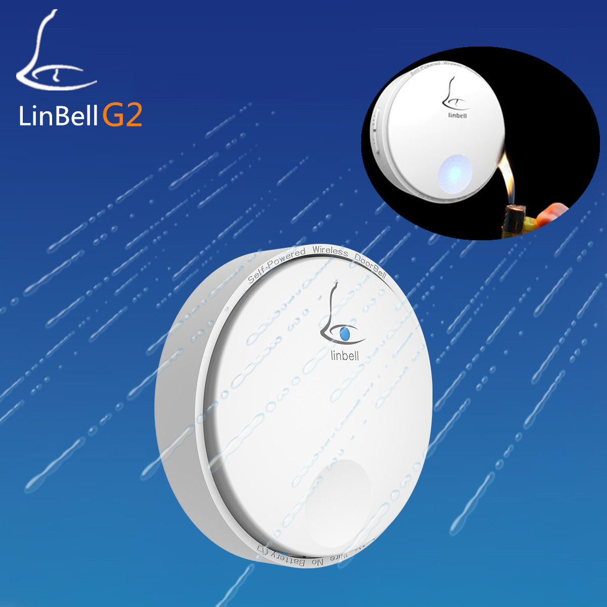 Linptech Linbell G2 door ring with 38 timbre ringstones door bell wireless 433mhz waterproof remote doorbell with 2 buttons linptech g1 1 doorbell button 2 remote wireless door bells smart mp3 ring doorbell electric waterproof home call ring bell