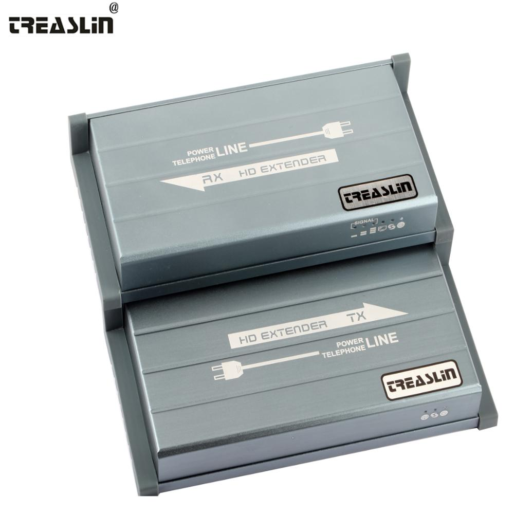 TreasLin HDMI Extender over Homes Powerline Up to 656FT 200M 1080P HDMI Transmitter font b Receiver